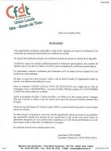 INVITATION CFDT Union Locale : ciné / Thème la souffrance au travail dans ACCUEIL invitation-220x300
